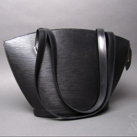 62326e98b536 Louis Vuitton Handbags - LOUIS VUITTON Black Epi Leather Saint Jacques PM